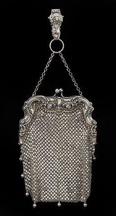 Chatelaine Bag - 1900 - by Gorham Manufacturing Company (American, 1831-present) - Metal - The Metropolitan Museum of Art - @~ Mlle