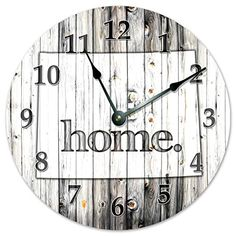 WYOMING STATE HOME CLOCK Black and White Rustic Clock  Large 105 Wall Clock >>> Find out more about the great product at the image link.-It is an affiliate link to Amazon. #Clocks