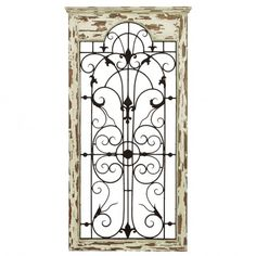 Benzara Magical Wooded Gate Style Wall Plaque | Modern Furniture Warehouse