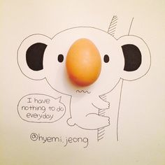 #koala #egg #nose #animal #drawing #sketch #코알라 #달걀 #코 #손그림 @cintascotch Thx for your second reply also!