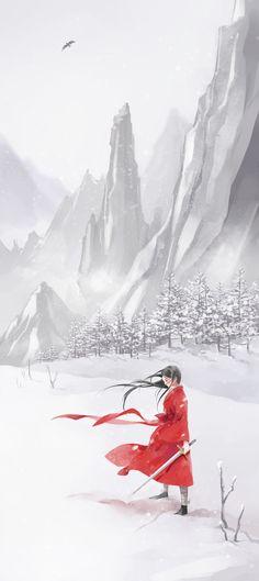snow mountain by ~yoeah on deviantART
