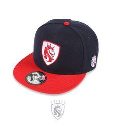 """OG Abel """"Shield Lion NAVY / RED BILL"""" Snap Back Hat"""