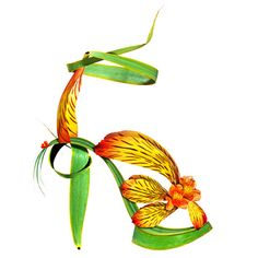 Michel_Tcherevkoff_tropical_green_sandal.jpg (625×625)