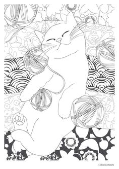 Cat therapy: 100 Stress coloring
