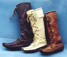 moccasin boots - I like the ones in the middle(: