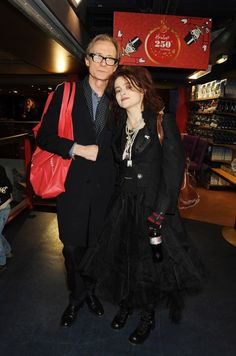 Bill Nighy and Helena Bonham Carter at Hamleys' Birthday Party Helena Carter, Helena Bonham Carter, British Actresses, Actors & Actresses, Tanya Meme, Mrs Lovett, Tim Burton Beetlejuice, Bill Nighy, Johnny Depp Movies