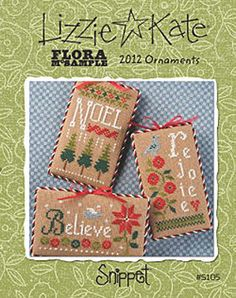 Lizzie Kate Snippet S105 - 2012 Ornaments - Christmas Cross Stitch Pattern Chart by DebiCreations on Etsy https://www.etsy.com/listing/196023724/lizzie-kate-snippet-s105-2012-ornaments