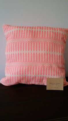 Neon Pink Arrow Cushion on Etsy, $14.44