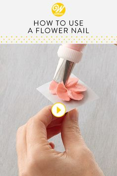 Watch and learn how to use a flower nail to help make buttercream flowers or layers of petals. The techniques in this video will help to create beautiful icing flowers to decorate all your cakes, cupcakes, and other desserts! #wiltoncakes #youtube #videos #tutorials #diy #baking #royalicing #buttercream #pipingtechniques #wiltontips #pipingflowers #cakeideas #cakedecorating #cookiedecorating #cakeideas #cookieideas #baking #decorating