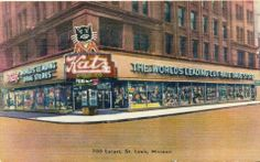 Cats in Art and Illustration: Katz Drug Store, St Louis, MO. Vacation Trips, Vacation Spots, Vacation Travel, Sleeping On A Plane, Travel Advice, Travel Tips, St Louis Mo, Saint Charles, Business Travel
