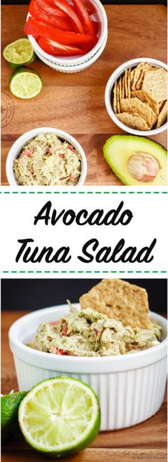 Avocado Tuna Salad - A quick and easy lunch or snack, this avocado tuna salad is healthy, easy, and absolutely amazing!
