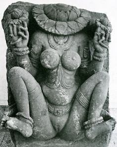 Lajja Gauri is a goddess associated with abundance and fertility, and she has been euphemistically described as Lajja (that is, modesty). Yoni (Sanskrit: योनि yoni) is the Sanskrit word for the vagina. Its counterpart is the lingam, interpreted by some as the phallus. It is also the divine passage, womb or sacred temple (cf. lila). The word covers a range of meanings: place of birth, source, origin, spring, fountain, place of rest, repository, receptacle, seat, abode, home, lair, nest…