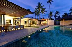8 Bedroom Luxury Beach Front Villa with Private Pool at Lipa Noi Koh Samui Villa Pool, Villa With Private Pool, Beach Villa, Island Villa, Dream House Exterior, Koh Samui, Luxurious Bedrooms, Luxury Villa, My Dream Home