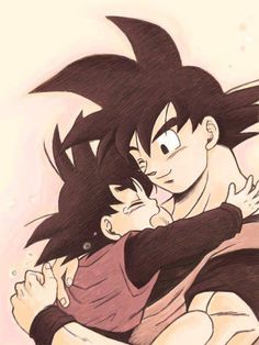 Goten y Goku-Dragon Ball