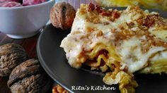 Lasagna con noci e salsiccia