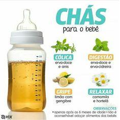 Receitas de Chás para o bebê - cólica, digestão, gripe e relaxar
