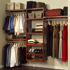 John Louis Deluxe Red Mahogany Closet System - Overstock™ Shopping - Great Deals on John Louis Closet Storage Closet Bedroom, Closet Space, Master Closet, Closet Wall, Master Suite, Cozy Bedroom, Bedroom Ideas, Closet Office, Upstairs Bedroom