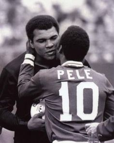 Icons ©: Two Great Sports Icons Together :- the King of Boxing, Muhammad Ali and the King of Football, Pelé [October Muhammad Ali, But Football, Sport Football, Sporting, Sport Icon, Sports Figures, Sports Stars, World Of Sports, Sports Illustrated