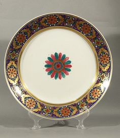 imperial Russia period designs | 395: IMPERIAL RUSSIAN PORCELAIN PLATE GOTHIC SERVICE NI : Lot 395