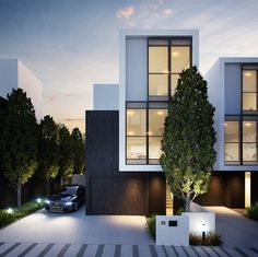 The Best House Architecture Ideas for Stay in Melbourne Townhouse Exterior, Modern Townhouse, Townhouse Designs, Beautiful Architecture, Contemporary Architecture, Architecture Details, Villa, Habitat Groupé, Duplex House Design