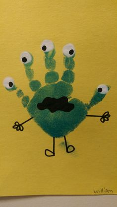Monster Handprint!  Arts and Crafts