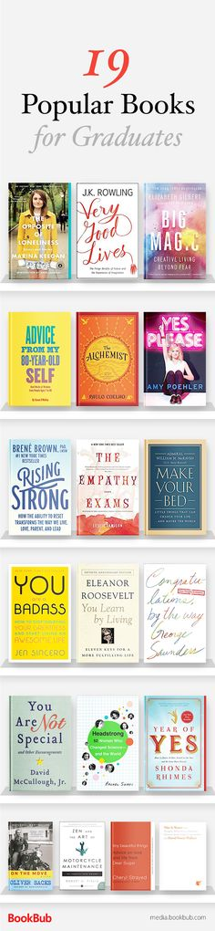 19 books for teen graduates worth reading. These books would make great gift ideas, and feature inspirational nonfiction reads.