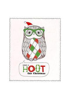christmas card 2013 OWL