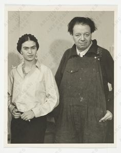 Frida Kahlo and Diego Rivera, ca. unidentified photographer (Albert Kahn papers, Archives of American Art, Smithsonian Institution) Diego Rivera, Frida E Diego, Frida Art, Natalie Clifford Barney, Kahlo Paintings, Mexican Artists, Famous Artists, Artist Art, American Art