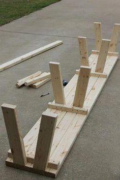 Simple DIY Farmhouse Bench Tutorial with Storage # Farmhouse . - Simple DIY Farmhouse Bench Tutorial with Storage -