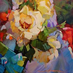 """""""For the Love of Color"""" by Dreama Tolle Perry  ~ 8"""" x 8"""" = such joyful use of color!"""
