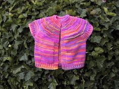 Suzies Stuff: TODDLER VEST Knitting Pattern #knitting