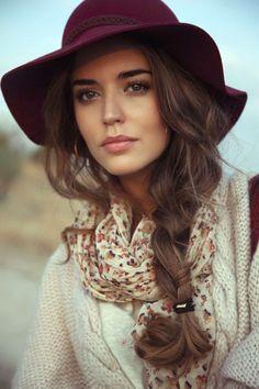 Purple Stylish Hat
