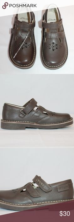 8f57db32e64 Girls Clarks Brown Leather School Shoes 11.5 NEW Girls Brown Leather School  Shoes by Clarks
