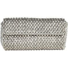 Jacques Vert Metallic Beaded Clutch Bag, Metallic (€46) ❤ liked on Polyvore featuring bags, handbags, clutches, white purse, faux-leather handbags, hand bags, evening purses and evening clutches