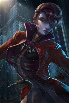 Vampiress *,..,*  - digital painting by Vera Zowadova