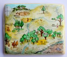 Arty McGoo: I heart my library---oh my that Winnie-the-Pooh map cookie is amazing!
