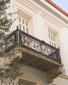 Great balcony in neoclassical house in Plaka.