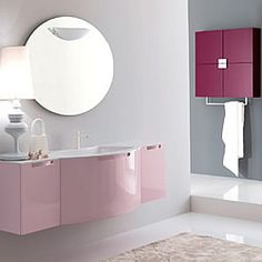 pink to make the boys wink ! Green Interior Design, Interior Work, Interior Design Companies, Kitchen Furniture, Furniture Decor, Italian Bathroom, Freedom Design, Beautiful Bathrooms, Corner Bathtub