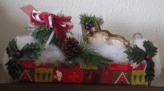 Sleigh Christmas decor by Codysquilts on Etsy, $35.00
