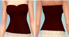 The simsperience: 5 Tube Sweetheart Top - Sims 4 Downloads