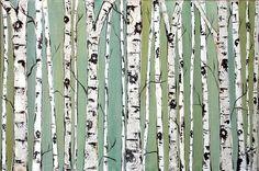 Custom Birch Tree Painting   Another custom item that a buye…   Flickr