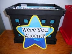 Need an Absent Bin, so students can be in charge of getting work back to me that they missed