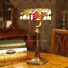 Modern Grape Pattern Stained Glass Tiffany Lamps On Sale