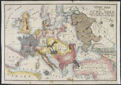 A Pooping Britain, a Russian Octopus, and Other Weird Maps | Created in 1854, this famous caricature map depicts the Crimean War. Each country involved in the war becomes a different animal: Britain as a lion standing sentry, France as an imperial eagle, Turkey as…a turkey, and their foe Russia as a despotic bear, seemingly prepared to whip Poland into submission. | Credit: The British Library Board | From Wired.com