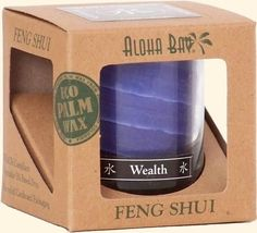 Feng Shui Jar Candle in Gift Box, with Pure Essential Oils, Water Wealth (Indigo), oz, Aloha Bay Chakra Symbols, Reiki Symbols, Feng Shui Candles, Soy Candles, Candle Jars, Water Candle, Reiki Stones, Crystal Grid, Pure Essential Oils