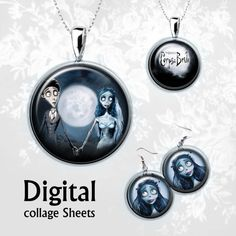 The Corpse Bride. Digital Collage Sheet  15inch от MyMidnightMoon, $3.00