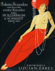 Lucian Zabel, illustration for a printer's ad in the magazine Gebrauchsgraphik, late 1920s. Germany. Early example of sex sells.