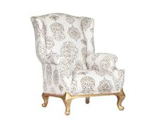 Wingback With Gold Foot Measurements 700 x 700 x 1100 Wingback Chair, Armchair, Lounge Chairs, Accent Chairs, Interior, Gold, Furniture, Home Decor, Sofa Chair