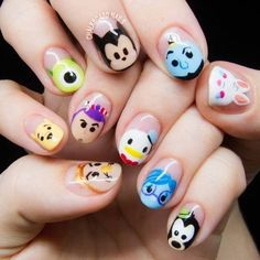 Add eyebrows to the nails Nail art ideas. Add eyebrows to the nails - -Nail art ideas. Add eyebrows to the nails - - Nail Art Disney, Disney Nail Designs, Cartoon Nail Designs, Disney Princess Nails, Cartoon Design, Nail Designs For Kids, Cartoon Ideas, Cute Nail Art, Cute Nails