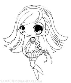 Colouring Pages Of Chibi